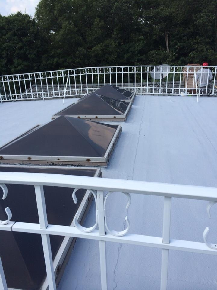 Roofing Clifton Nj After pics of flat Gaco roof in Franklin Lakes, NJ ...