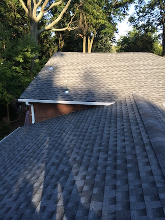 "New GAF Lifetime Warranty Timberline Roof with New 5"" K-style Aluminum Gutters & 2x3 Leaders in Livingston NJ"