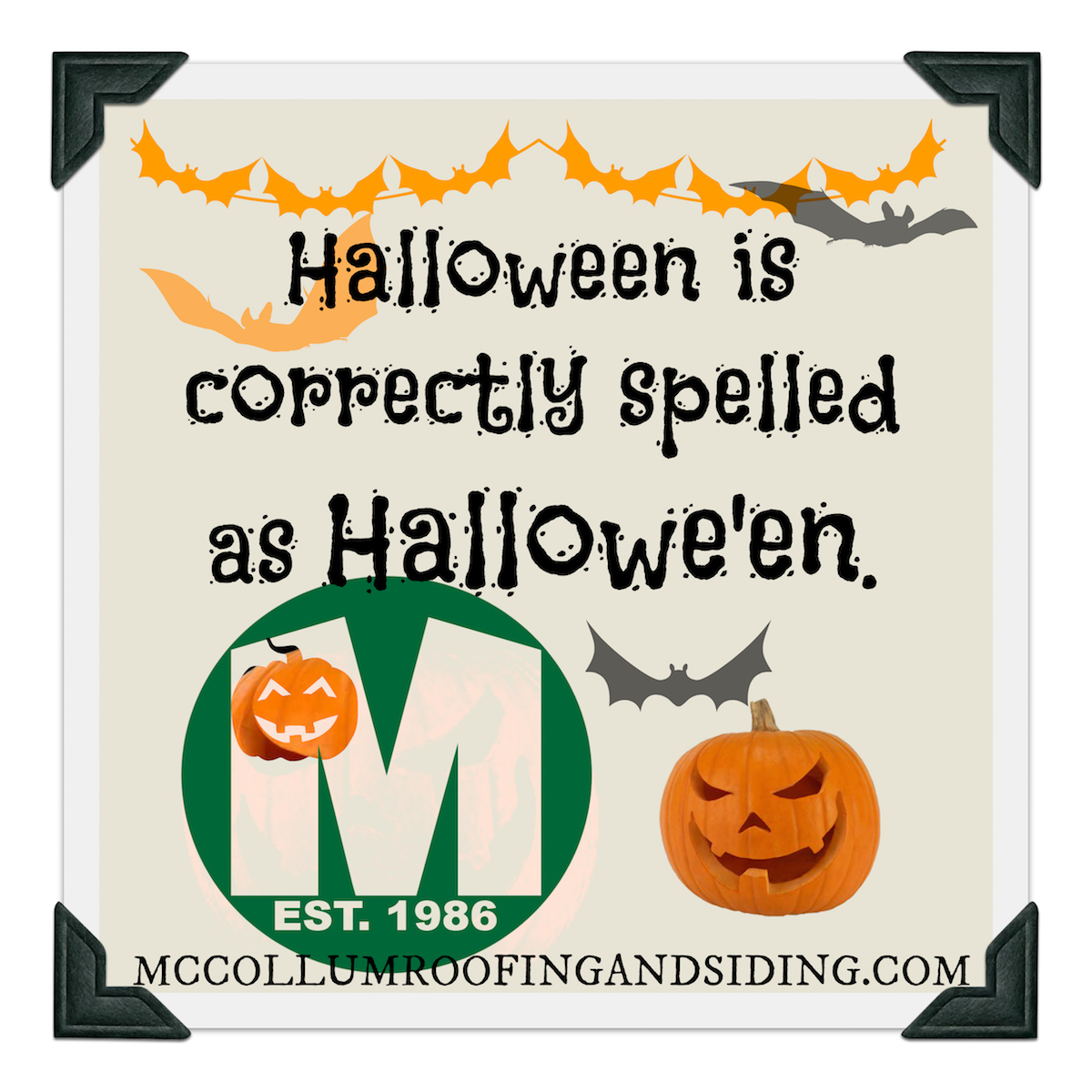Discover Halloween History & Lore with McCollum Roofing and Siding, a West Orange NJ Family Owned & Operated Business