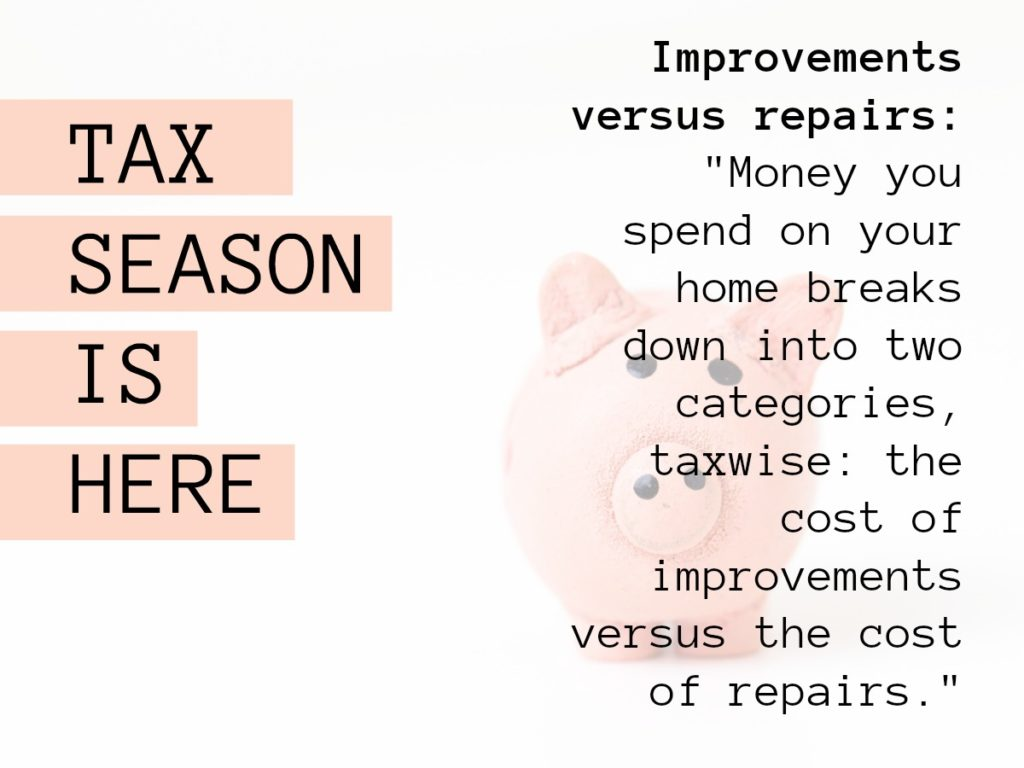When you make a home improvement, such as installing central air conditioning, adding a sunroom or replacing the roof, you can't deduct the cost in the year you spend the money. But if you keep track of those expenses, they may help you reduce your taxes in the year you sell your house.