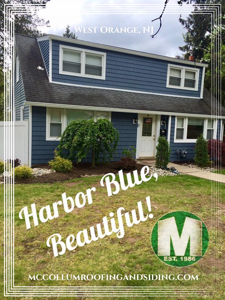 Cedar Impression Vinyl Siding In Gorgeous Harbor Blue
